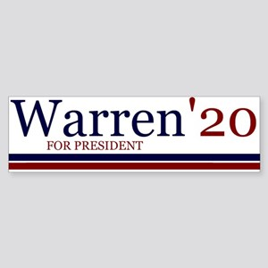 Warren for president '20 Bumper Sticker