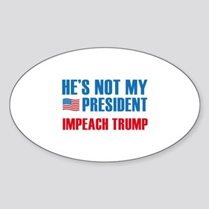 Not My President Sticker (Oval)