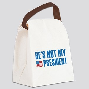He's Not My President Canvas Lunch Bag