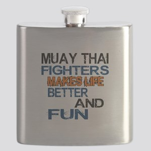 Muay Thai Fighters Makes Life Better And Fun Flask
