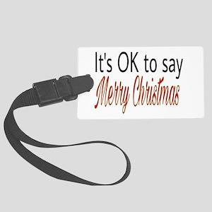 Merry Christmas Large Luggage Tag