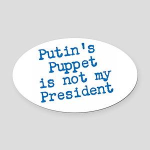 Putins Puppet Oval Car Magnet