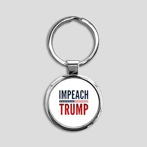 Impeach Trump Round Keychain