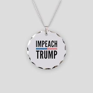 Impeach Trump Necklace Circle Charm