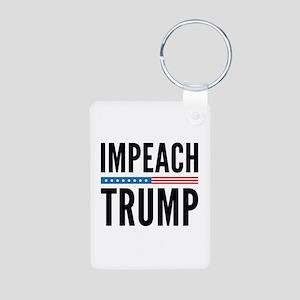 Impeach Trump Aluminum Photo Keychain