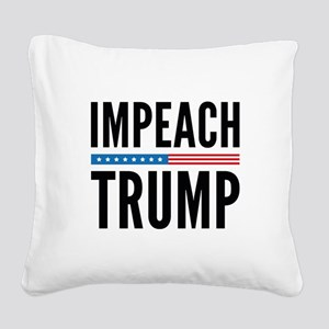 Impeach Trump Square Canvas Pillow