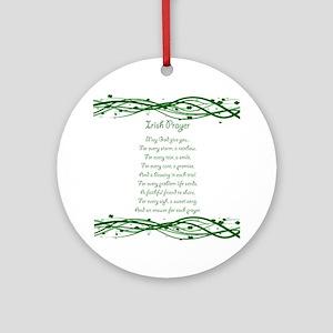 irishprayer Round Ornament