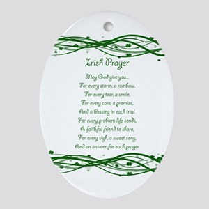 irishprayer Oval Ornament
