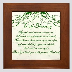 irishblessing Framed Tile