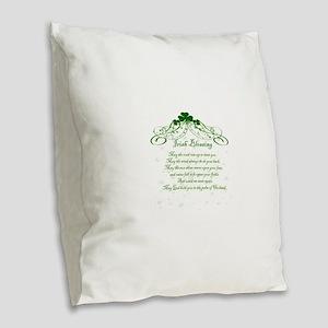 irishblessing Burlap Throw Pillow