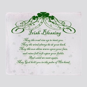 irishblessing Throw Blanket