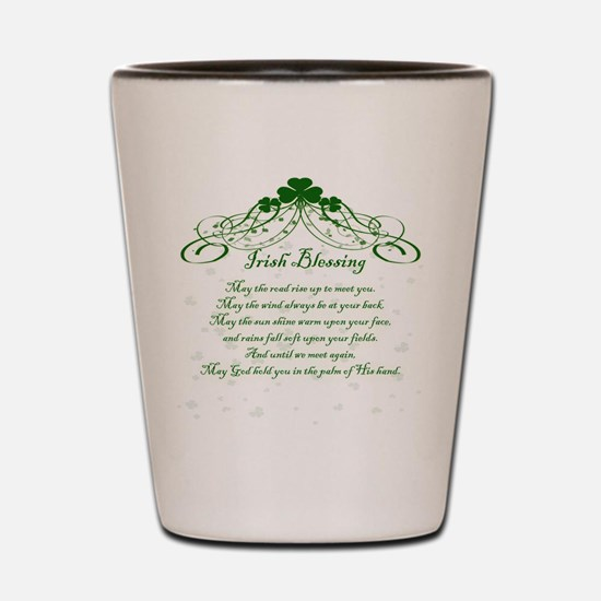 irishblessing.png Shot Glass