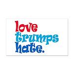 Love Trumps Hate Rectangle Car Magnet