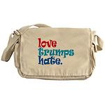 Love Trumps Hate Messenger Bag