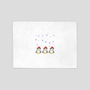 christmaspenguinssnow 5'x7'Area Rug