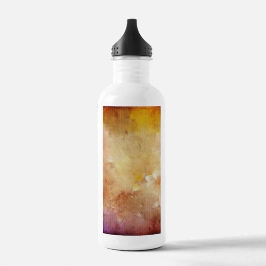 Vintage Floral Grunge Water Bottle