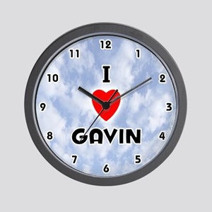 I Love Gavin (Black) Valentine Wall Clock