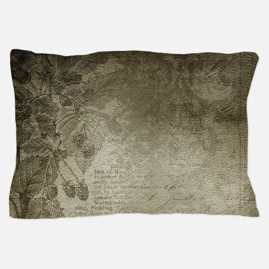 Antique Floral Vintage Grunge Grey Pillow Case