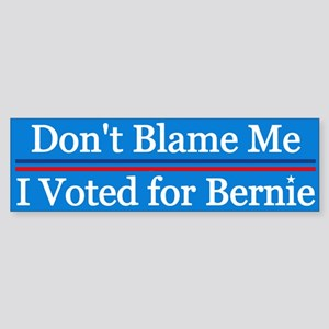 I Voted For Bernie Bumper Sticker