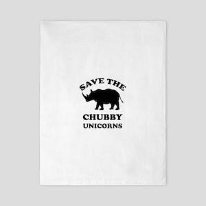 Save the chubby unicorns t-shirt Twin Duvet