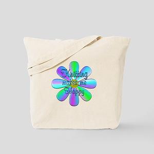 Knitting Happy Tote Bag