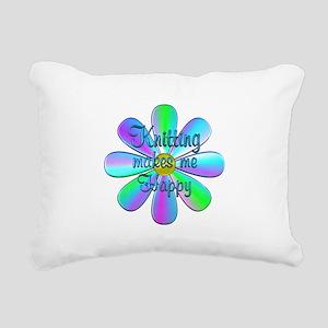 Knitting Happy Rectangular Canvas Pillow