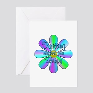 Knitting Happy Greeting Card