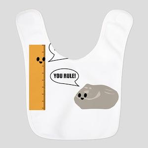 You Rock! You Rule! Pun Polyester Baby Bib
