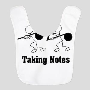 Taking Notes - Pun Polyester Baby Bib