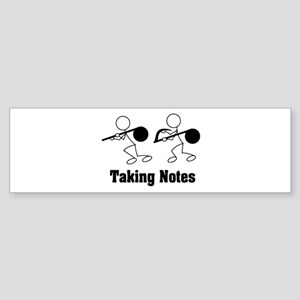 Taking Notes - Pun Bumper Sticker