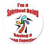 spiritual-being Round Car Magnet