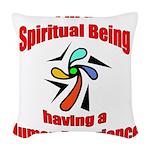 spiritual-being Woven Throw Pillow