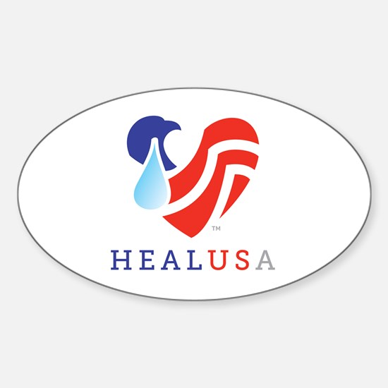 Cute Usa peace Sticker (Oval)