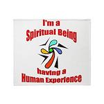 spiritual-being Throw Blanket