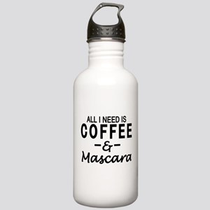 All I need is coffee & Mascara Water Bottle