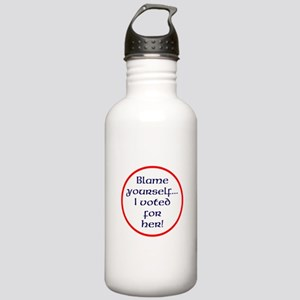 Blame yourself Water Bottle