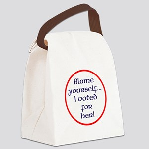 Blame yourself Canvas Lunch Bag