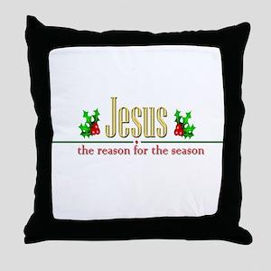 jesusseason Throw Pillow