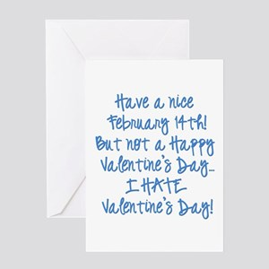 Anti valentines day greeting cards cafepress valentines5 greeting cards m4hsunfo