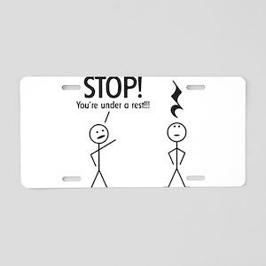Stop! You're under a rest! Pun T-Shirt Aluminum Li