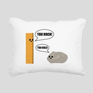You Rock! You Rule! Pun Rectangular Canvas Pillow