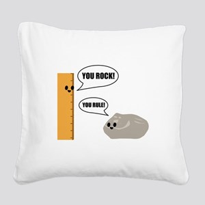 You Rock! You Rule! Pun Square Canvas Pillow