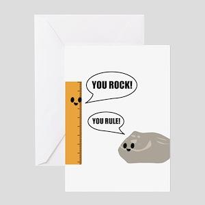 You Rock! You Rule! Pun Greeting Card