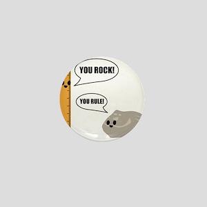 You Rock! You Rule! Pun Mini Button