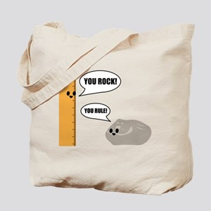 You Rock! You Rule! Pun Tote Bag