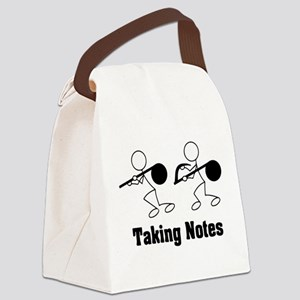 Taking Notes - Pun Canvas Lunch Bag