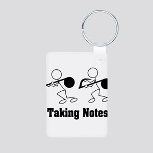 Taking Notes - Pun Aluminum Photo Keychain