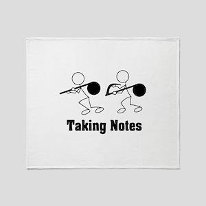 Taking Notes - Pun Throw Blanket
