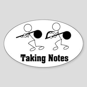 Taking Notes - Pun Sticker (Oval)