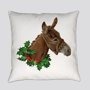 Muletide Greetings Everyday Pillow